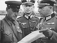Nazi and Soviet officers  meet after joint invasion of Poland on September 17, 1939