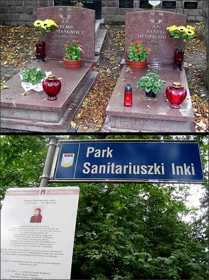 "Danuta Siedzikowna ""Inka"", Polish Underground soldier murdered by Polish secret police - symbolic grave site in Gdansk, Poland"
